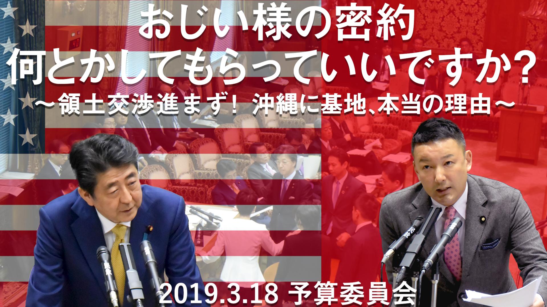 19.3.18 予算委員会